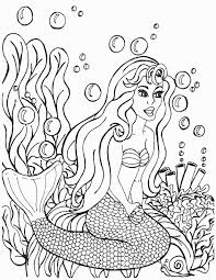 kneeling mermaid with bubble and plants coloring page mermaid