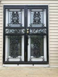 city ornamental iron security doors