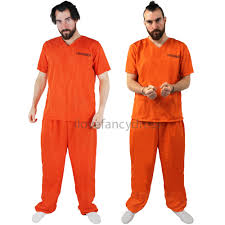 halloween inmate costume womens prisoner costume orange top trousers convict halloween