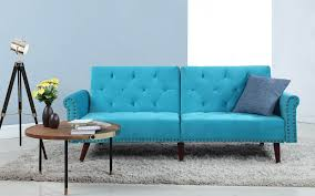 Teal Tufted Sofa by Sofa Section Sofamania Com