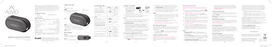 Ps000022 Auvio Mono Plus Bluetooth Speaker User Manual Tcl