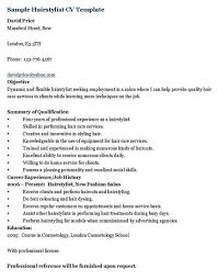 Hair Stylist Resume Sample by Sample Hairstylist Resume