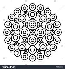 easy black white mandala coloring book stock vector 558223483