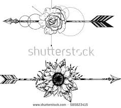 free boho feathers with arrows vector free vector