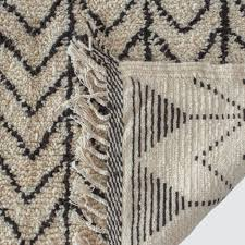 Rug Black Hand Knotted Wool Rugs Black And Cream Moroccan Rug U2013 The Citizenry