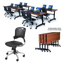 training chairs with tables balt two task chairs w one lumina flip top table 72 x 24