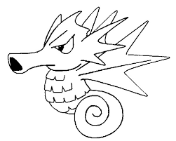 seadra pokemon printable coloring pages coloring pages kids