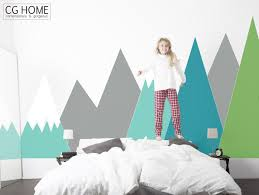 entire wall covering mountain wall decal whole wall protcetion