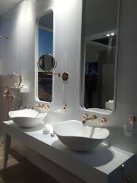 bowl sinks and elegant mirrors for classic bathroom