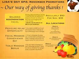 november specials s day spa