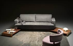 contemporary sofa contemporary sofa leather fabric 2 seater bloom by r