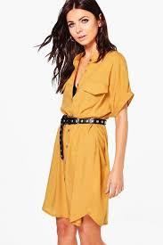 maeve clothing maeve pocket detail sleeveless shirt dress boohoo