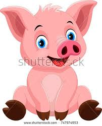sitting illustration pig stock images royalty free images