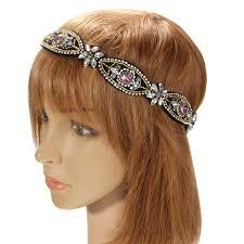 rhinestone headband gorgeous vintage rhinestone headband handmade boho ethinc