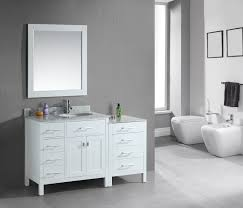 adorna 56 single bathroom vanity white finish is constructed of