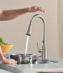 polished nickel kitchen faucet best touch sensitive kitchen