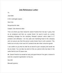 job reference recommendation letter examples of resumes