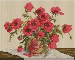 free cross stitch pattern symphony of poppies embroidery