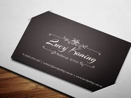 Makeup Business Cards Designs Serious Modern Business Card Design For Lucy Koning By Brandwar