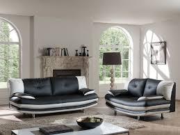 canap 3 et 2 places pas cher salon fixe design 2 3 places en pu coloris noir blanc felicia