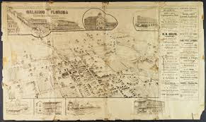 Orlando Florida Map 1890 Panoramic Map Of Orlando Orlando Memory