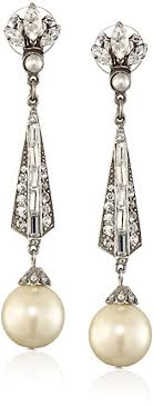 bridal drop earrings ben amun jewelry swarovski and glass pearl