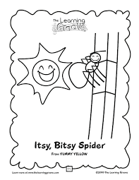 itsy bitsy spider coloring funycoloring