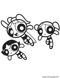 3 Powerpuff Girls Coloring Pages Printable Power Puff Coloring Page