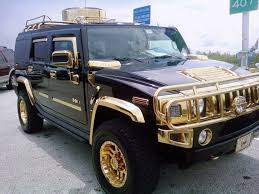 custom h2 hummer black with all trim racks bumpers wheel