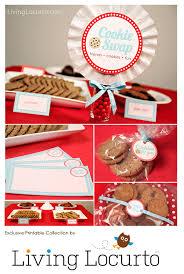 cookie exchange christmas printables cookie swap party ideas