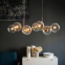 west elm ceiling light ceiling light staggered glass chandelier 8 light west elm intended
