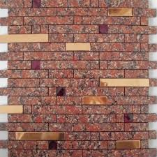Red Mosaic Tile Backsplash by Mosaic Tile Strip Stainless Steel Peel And Stick Diamond Crystal