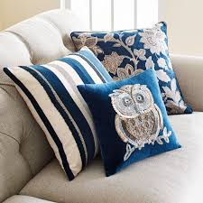 Peacock Pillow Pier One by Textured Indigo Striped Pillow Pier 1 Imports