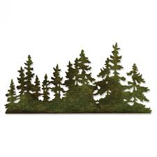 661604 sizzix thinlits die tree line by tim holtz country
