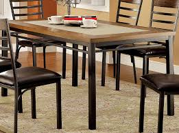 industrial kitchen table furniture furniture of america naga industrial dining table