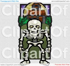 haunted house clipart free royalty free rf clipart illustration of a skeleton by a haunted