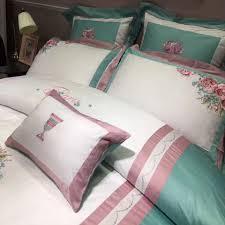 Princess Duvet Cover Green White Pink Princess Duvet Cover Set Egyptian Cotton