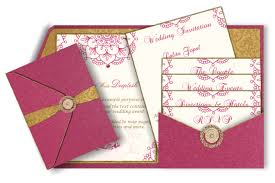 wedding inserts luxury pocket fold card with inserts pink and gold