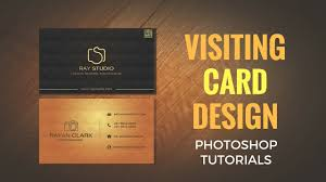 Studio Visiting Card Design Psd Visiting Card Business Card Photoshop Tutorial Youtube