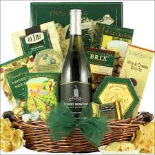 wine and cheese gift baskets mondavi selection chardonnay gourmet wine gift basket