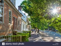 duke of gloucester street in historic colonial williamsburg in the