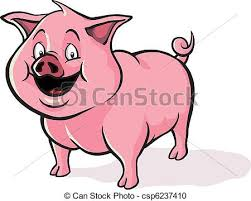 vector clipart cute cartoon pig happy cute cartoon pig