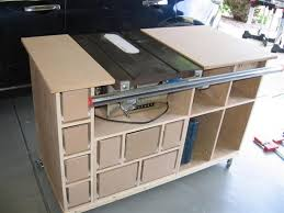 table saw workbench plans table saw mobile workstation 4 construction is moving along by