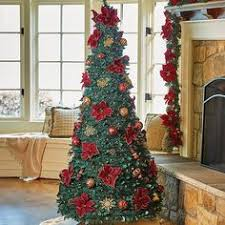 Pre Lit Mini Christmas Tree - fully decorated red gold pre lit 7 5ft christmas tree liked on