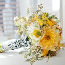 wedding flowers arrangements yellow wedding bouquets martha stewart weddings