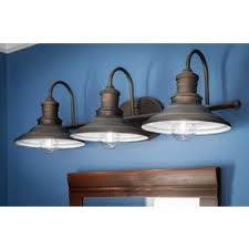 Allen Roth 3 Light Hainsbrook Aged Bronze Bathroom Vanity Light Bathroom Vanity Light Fixtures Rubbed Bronze