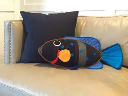 Peacock Decor For Home by Fish Pillow Willy The Peacock Rock Cod Fish Lionheart Imports