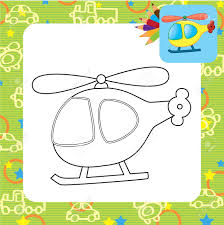 toy helicopter coloring page royalty free cliparts vectors and