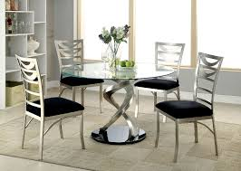 Glass Top Dining Table Set by Roxo Round Glass Dining Table By Furniture Of America Cm3729t