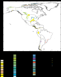 Central And South America Map by Usgs Open File Report 2008 1257